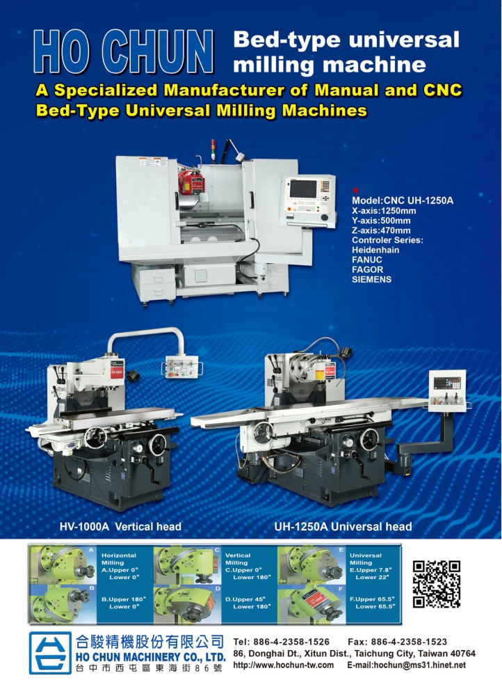 HO CHUN MACHINERY CO., LTD.