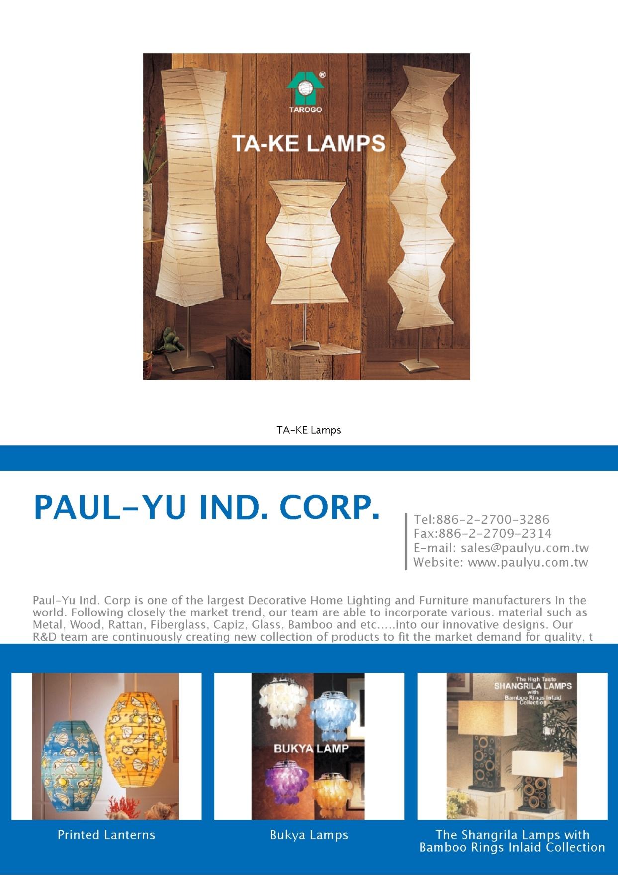 PAUL-YU IND. CORP.