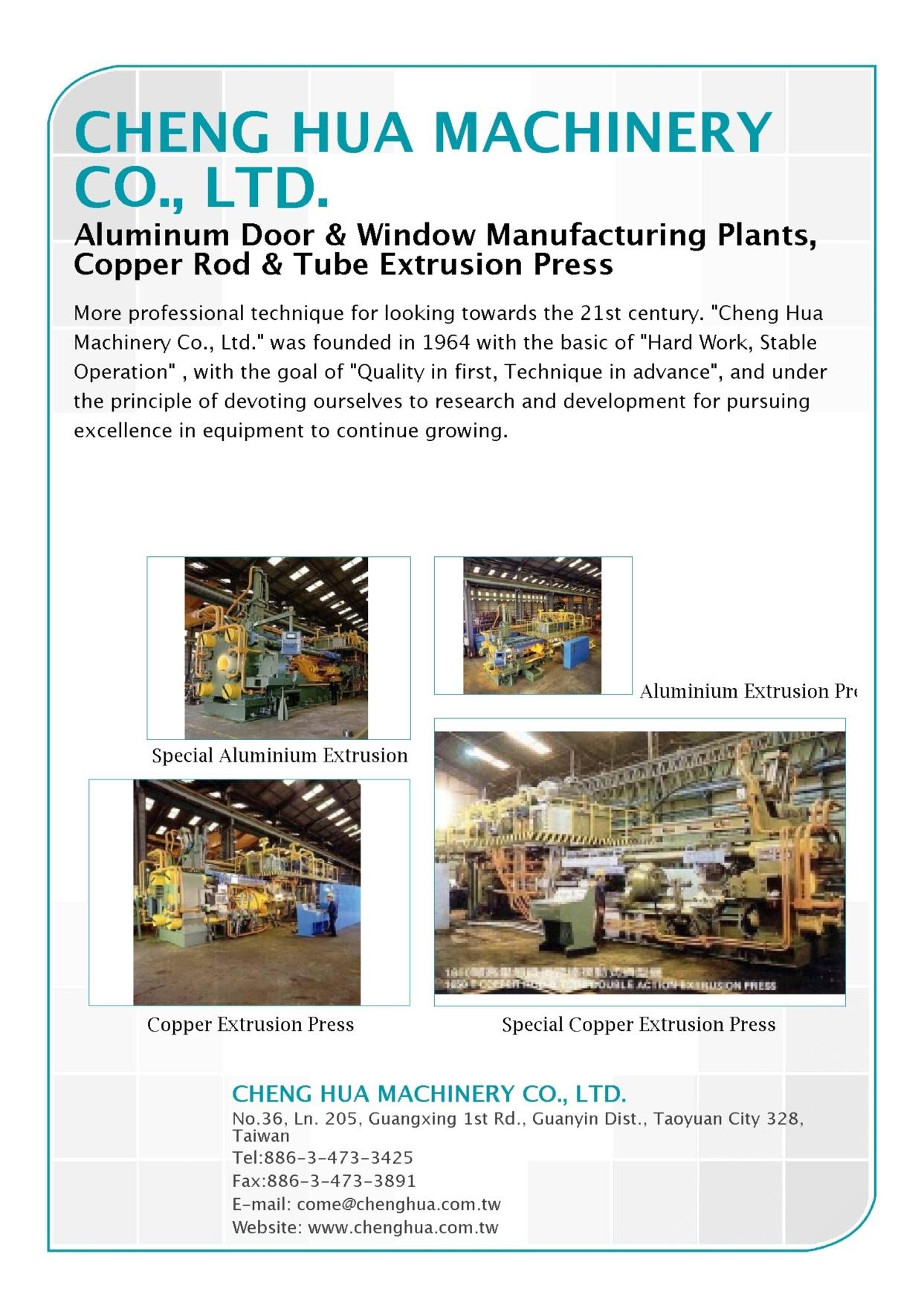 CHENG HUA MACHINERY CO., LTD.