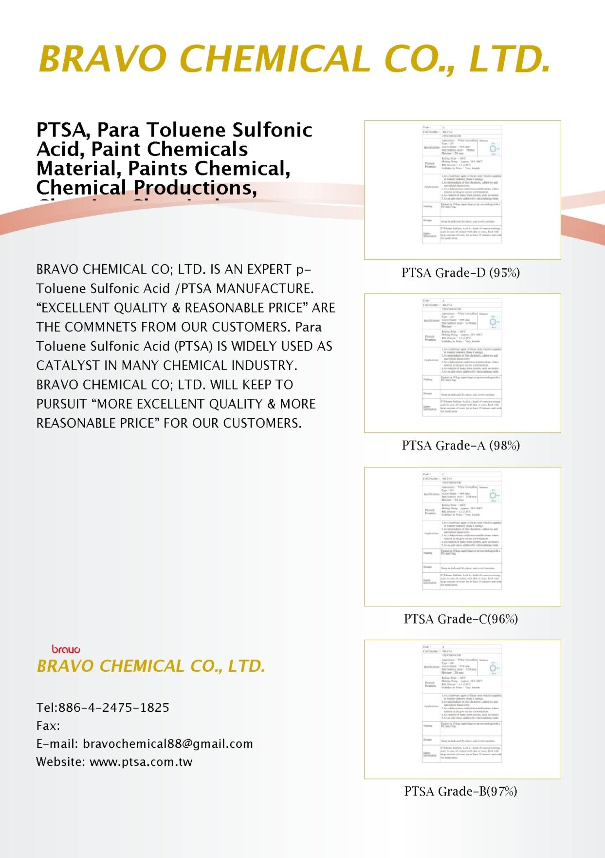 BRAVO CHEMICAL CO., LTD.