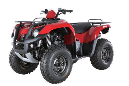 SYM`s most-powerful ATV, the QuadRider 600.