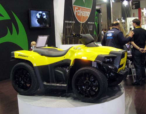 CECTEK`s state-of-the-art on-road ATV is powered by the company`s own 500cc engine.
