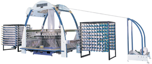 Miniature-type six-shuttle circular loom developed by For Dah.