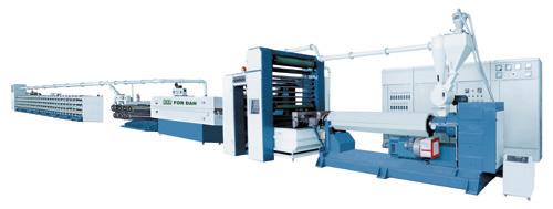 High-speed & high-capacity flat yarn making machine.