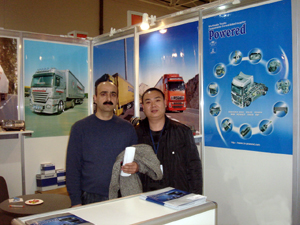 Global buyers visit Powered`s booths at major international auto-parts shows.