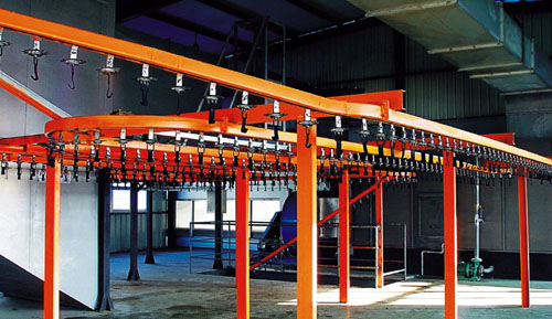 Part of Zhejiang Shiny`s production line.