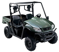 Many parts of an UTV can be hydroformed, Chung says. (photo courtesy of KYMCO).
