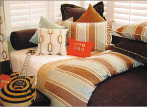 ... is well-suited for tween or teen boys. The color palette includes mocha, ...