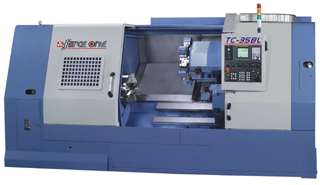 Twin-spindle CNC lathe developed by Force One.