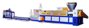 Co-extrusion recycling & pelletizing machine developed by Fu Yu Shan.