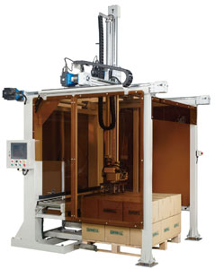 The ECP-925 automatic case palletizer developed by Ever Roll.