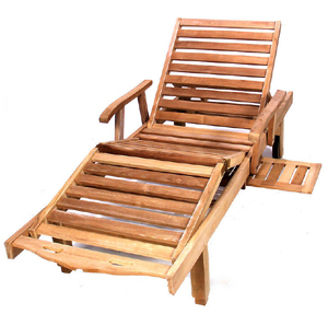 The recliner is also a popular outdoor furniture.