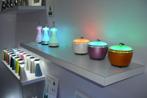 The Red Dot-awarded mood desk light is a major player in Home Resource`s brand operation.