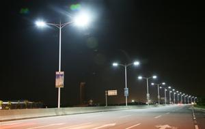 An illustration of LED streetlight installation.