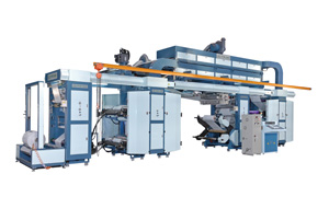 8-color roll--to-roll printing machine developed by For Dah.