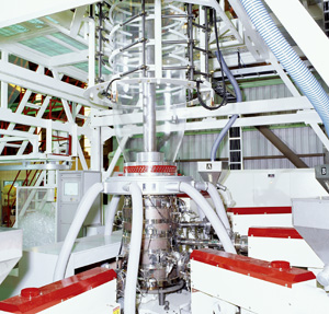 Five-extruder co-extrusion line.
