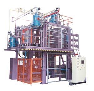 Automatic vacuum molding machine produced by Jiuh-Shin.