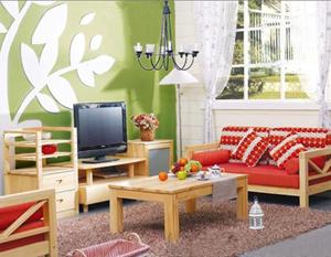 Xuzhou Huaxu Furniture's pine furniture sports a simple and natural appearance.