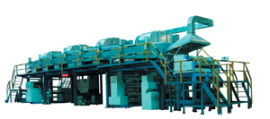 Multipurpose self-adhesive tape coating & dry machine developed by Comax.