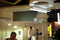 Taiwan's LED lighting industry is fighting a tough battle against S. Korea and China. Pictured is Everlight's booth at a Hong Kong lighting trade fair.