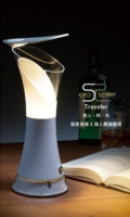 """The """"Traveler LED Desk Lamp"""" is a double-function desk lamp for reading and mood creation."""