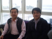 TFTA chairman Jim Chen (left) and advisor William Liao (right) play key roles in putting together pre-show plans for the first International Fastener Show, Tainan, TAIWAN.