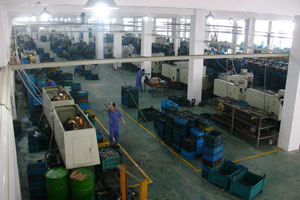 Hongfa's production line at its new factory in Yuhuan.