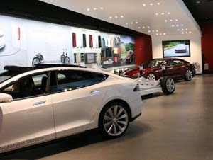 Tesla Motor's share price has risen this year to show investors' confidence.