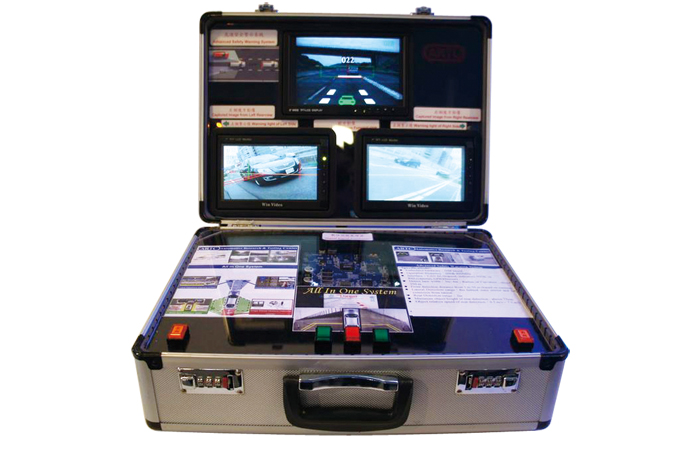 ARTC's all-in-one vehicle safety warning system that combines four image-based safety warning techniques.