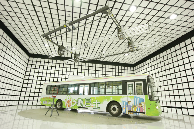 ARTC also demonstrated that its new EMC lab can test even full-size buses.