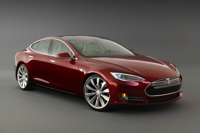 The pure-electric Tesla Model S.