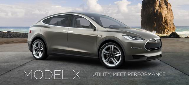 Tesla is scheduled to push the Model X in 2014.