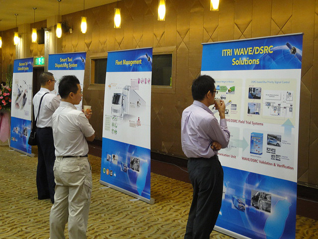 Research institutes demonstrated their technical capabilities and R&D achievements in after-ceremony activities.