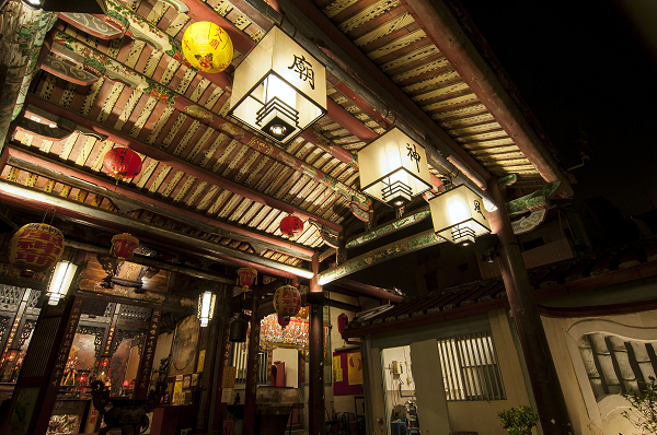 """The Wind God Temple has been transformed into the first """"Temple of Light"""" in Taiwan."""