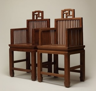"""The """"couple chairs"""" exhibit a mixture of Ming and Qing styles."""