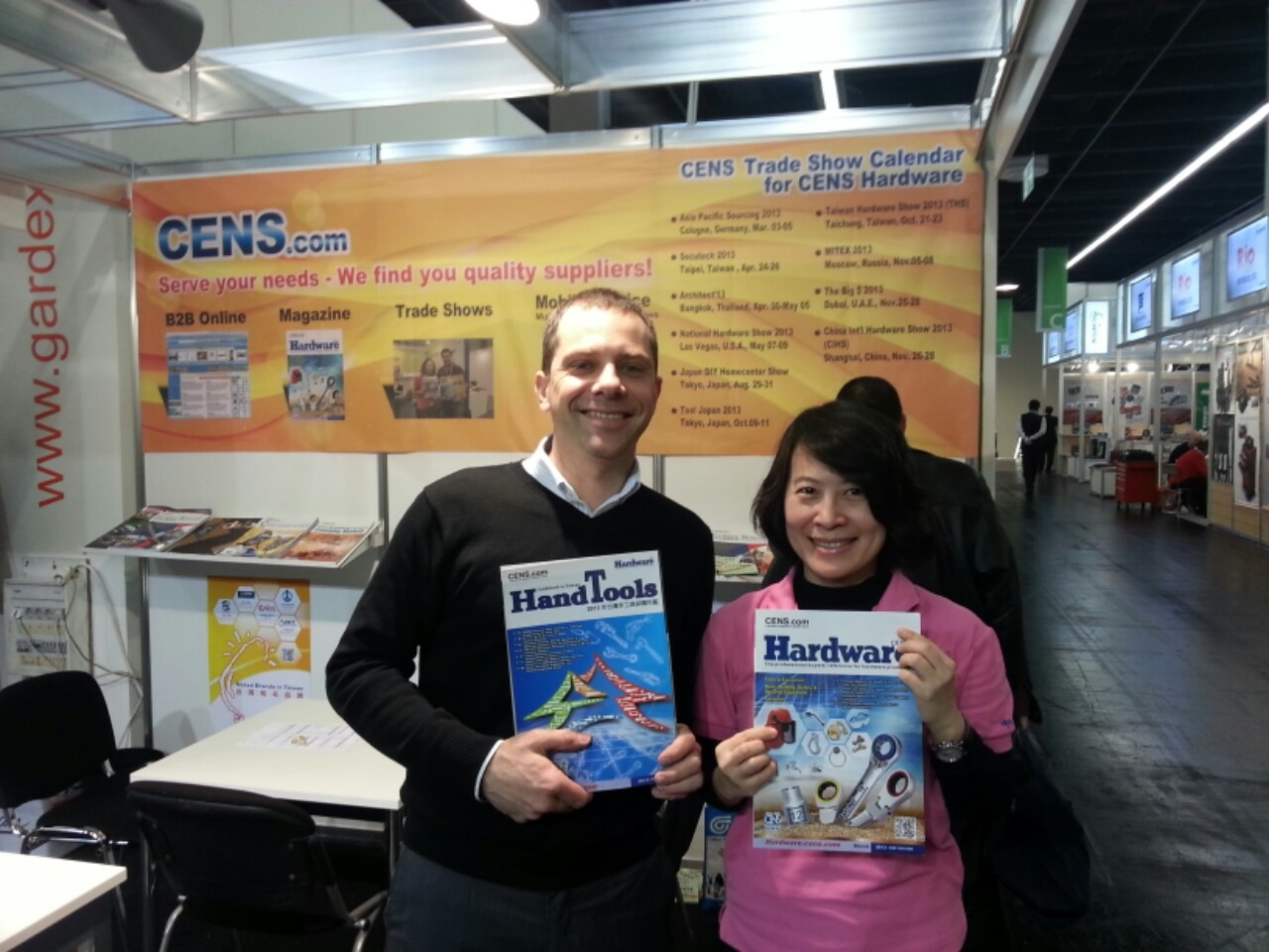CENS Hardware and Guidebook to Taiwan Hand Tools are popular with buyers at Asia-Pacific Sourcing 2013.