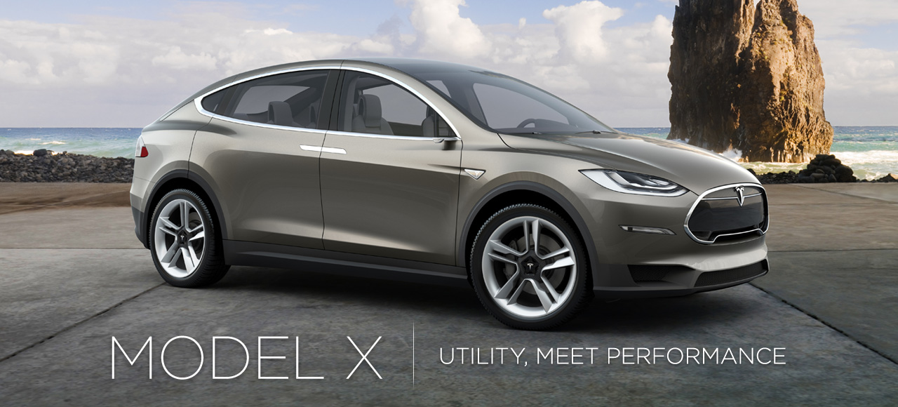 Tesla is scheduled to launch the Model X electric car in 2014 to further enhance revenue. (photo from Tesla's website)