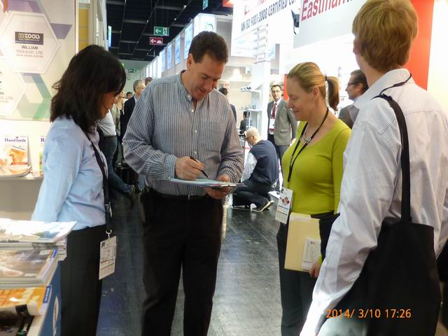 CENS Kept Busy Responding to Buyers` Inquiries for Taiwan`s High-quality Suppliers of Hardware at IHF Cologne 2014