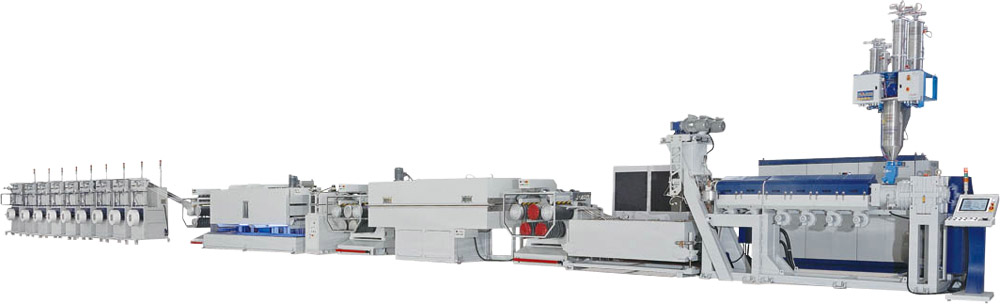 The JC-ST series PP & PET strapping band extrusion line is Jenn Chong's mainstay product among its product lineup.
