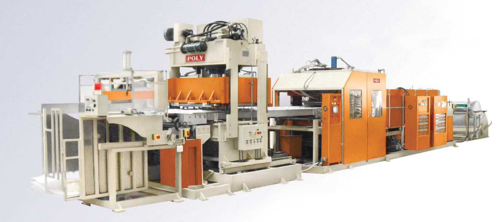 Poly Machinery's in-line die cutting forming machines is highlighted for completing a production cycle in 3.4 seconds.