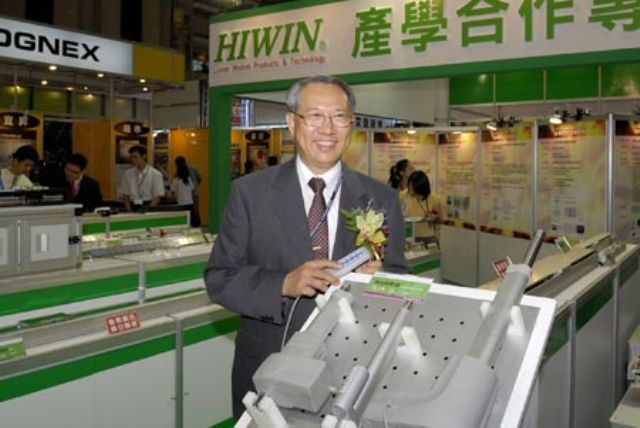 Hiwin leads Taiwan's machine tool makers in 2013 earnings.  (Photo of company chairman and chief executive officer, Eric Chuo, courtesy of Hiwin)
