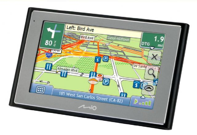 A Mio-branded GPS navigation device developed and made by Mitac. (photo from company website)