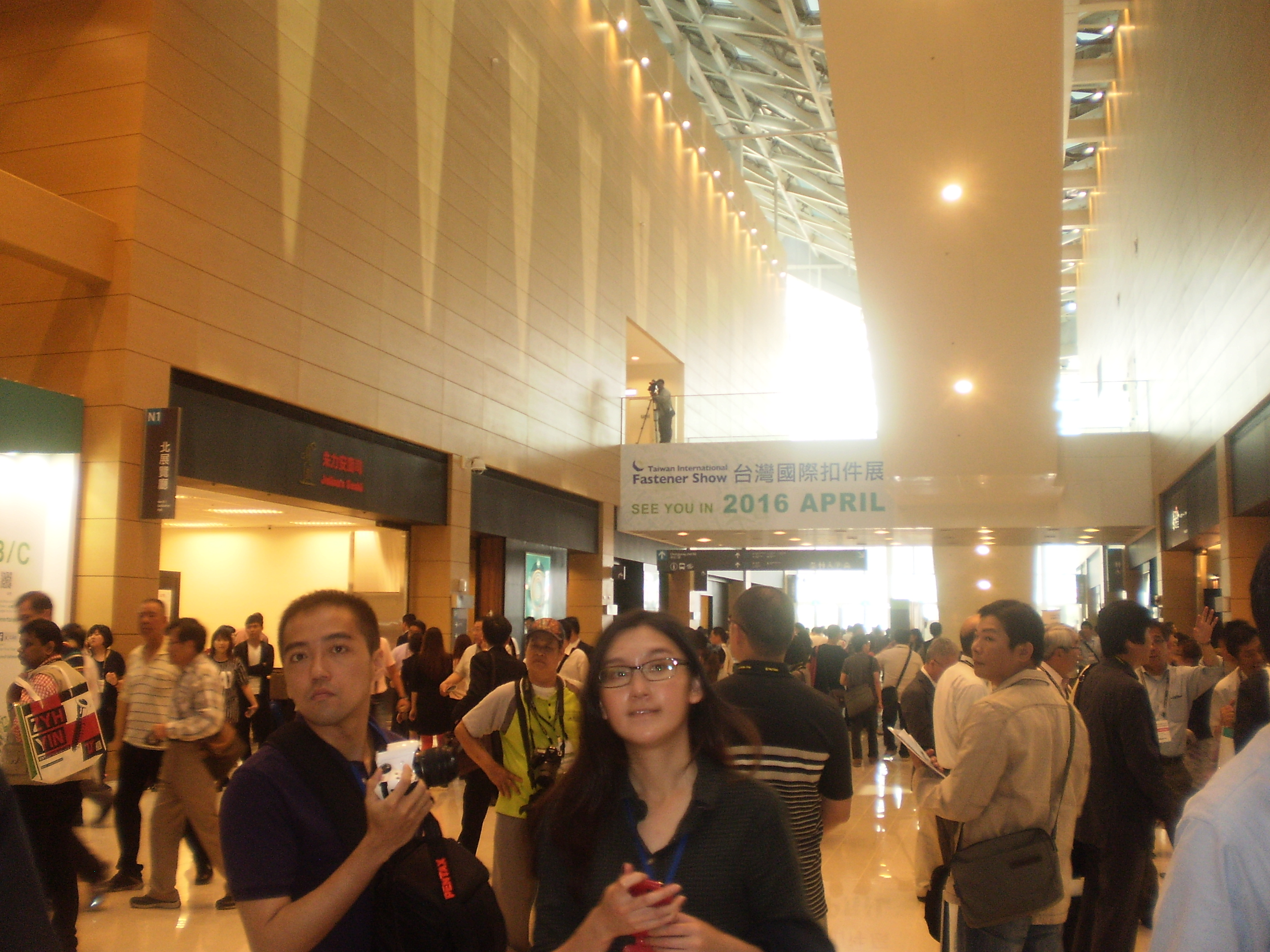 Hundreds of officials, personalities and reporters at joint opening ceremony of TIFS 2014 and Kaohsiung Exhibition Center.