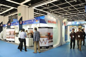 Malaysian exhibitors showed off their products in a national pavilion.