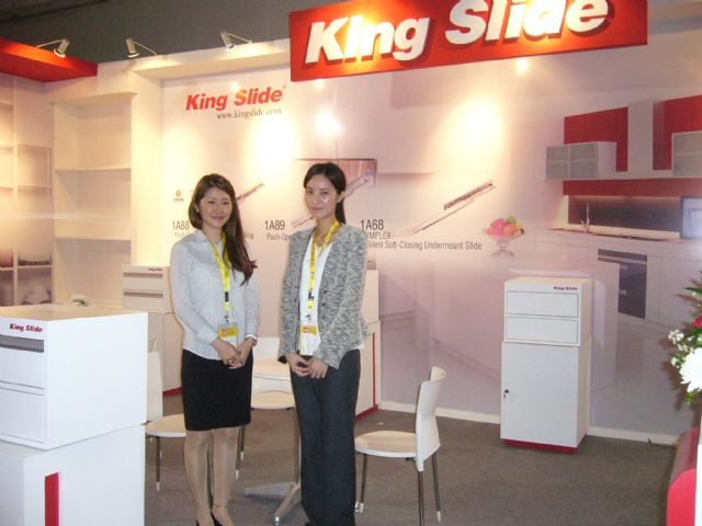 King Slide's booth at the show.