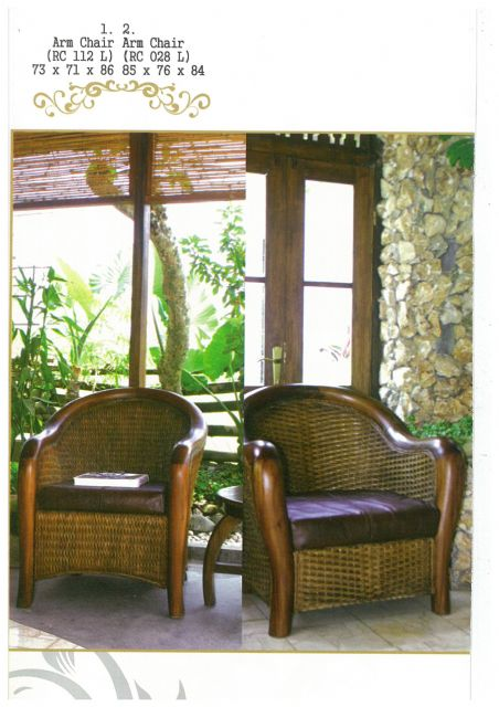 Djawa's arm chairs, made of rattan and wicker, feature simplicity and elegance.