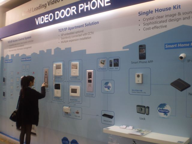 The integrated video door phone system is developed with network connectivity for both commercial and residential use.
