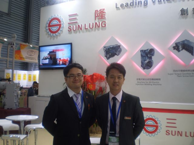 Sun Lung sales and marketing manager David Lo (right) and his sales coordinator, William Chen.