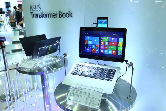 Asus' Transformer Book V features five functions.