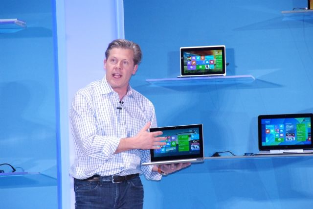 Microsoft's  Nick Parker announced free licensing of Windows OS for sub-9 inch smart computing devices.
